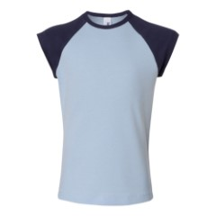 Bella Girl - 1x1 Rib Cap Sleeve T-Shirt