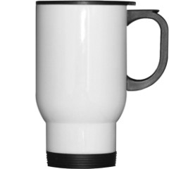14 oz White Travel Photo Mug