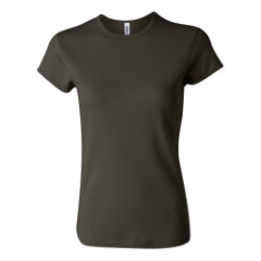 Bella - Ladies 1x1 Rib Short Sleeve Crewneck T-Shirt