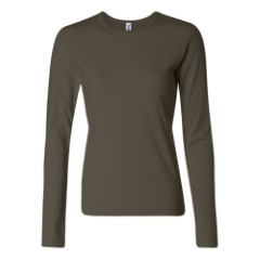 Bella - Ladies' 1x1 Rib Long Sleeve T-Shirt
