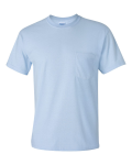 Light Blue Ultra Cotton T-Shirt with a Pocket