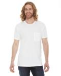 WHITE Unisex Fine Jersey Pocket Short-Sleeve T-Shirt
