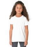 WHITE Toddler Poly-Cotton Short-Sleeve Crewneck