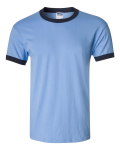 Carolina Blue Navy Ultra Cotton Ringer T-Shirt
