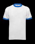 White Royal Ringer T-Shirt