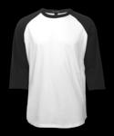 White Black Raglan Jersey