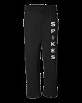 Black Gildan Heavy Blend Open Bottom Sweatpants