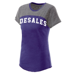 Purple Triblend DeSales Two Tone Tee