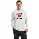 White Sport-Tek Dry Zone Long Sleeve Raglan T-Shirt