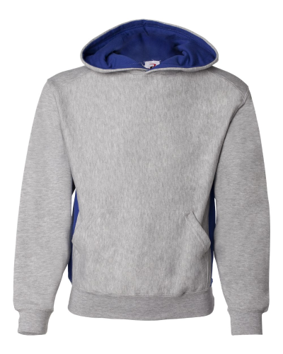 Oxford Royal Badger - Youth Contrast Color Underarm Sweatshirt with Hood
