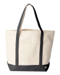 Natural Black Boater Tote Bag
