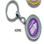 Silvertone Accessories: Key Chain With emblem