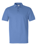Bimini Blue Ringspun Cotton Pique Sport Shirt