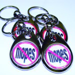 White No Mopes Keychain