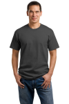 Charcoal Port & Company 5.4-oz 100% Cotton T-Shirt