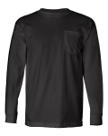Black Long Sleeve Pocket Tee