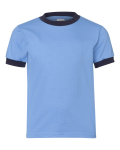 Carolina Blue Navy Youth Ringer T-Shirt
