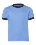 Carolina Blue Navy Youth Ringer T-Shirt