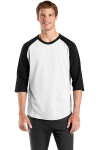 White Black Raglan Jersey