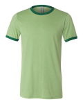 Heather Green Forest Bella Short Sleeve Ladies' Heather Ringer Jersey Tee