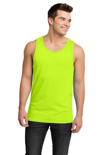 Neon Lime Lime District Young Mens Cotton Ringer Tank DT1500