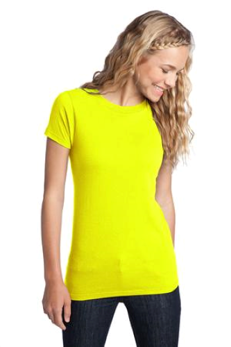 Neon Yellow District Juniors The Concert Tee DT5001