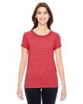 EC MCK ENG RED Ladies' Eco-Mock Twist Ideal Ringer T-Shirt