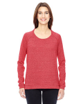 EC MCK ENG RED Ladies' Eco-Mock Twist Locker Room Pullover