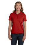 DEEP RED Ladies' Cotton Polo