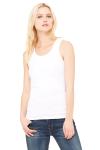 WHITE Ladies' Premium Stretch Rib Tank