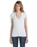 WHITE Ladies' 3.5 oz. Short-Sleeve V-Neck