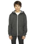 DK HEATHER GREY Youth Flex Fleece Zip Hoodie