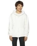 WHITE Youth Flex Fleece Zip Hoodie