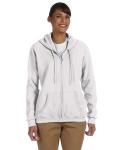 WHITE Heavy Blend trade; Ladies' 8 oz., 50/50 Full-Zip Hood