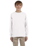WHITE Ultra Cotton® Youth 6 oz. Long-Sleeve T-Shirt