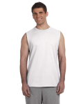 WHITE Ultra Cotton reg; 6 oz. Sleeveless T-Shirt
