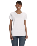 WHITE Heavy Cotton™ Ladies' 5.3 oz. Missy Fit T-Shirt