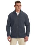 CHARCOAL Premium Cotton Fleece Full-Zip Jacket