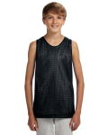 BLACK WHITE Youth Reversible Mesh Tank Top