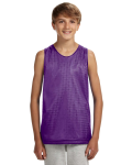 PURPLE WHITE Youth Reversible Mesh Tank Top