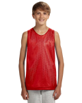 SCARLET WHITE Youth Reversible Mesh Tank Top