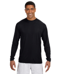 BLACK Long-Sleeve Cooling Performance Crew