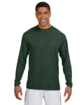 FOREST GREEN Long-Sleeve Cooling Performance Crew