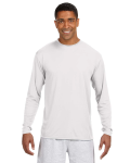 WHITE Long-Sleeve Cooling Performance Crew