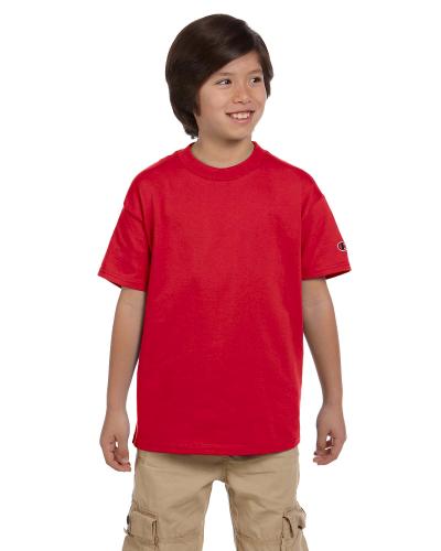 0e2b6df7 Champion BLACK Youth 6.1 oz. Short-Sleeve T-Shirt RED