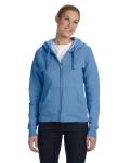 CAROLINA BLUE Ladies' ComfortBlend Full-Zip Hood
