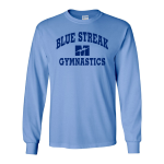 Carolina Blue 100% Cotton Long Sleeve T-Shirt