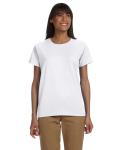 WHITE Ultra Cotton™ Ladies' 6 oz. T-Shirt