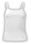 Customize a White -  - Ladies/Juniors Baby Rib Spaghetti Strap Tank Top