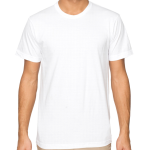 Customize a White -  - Mens Fine Cotton Jersey T-Shirt